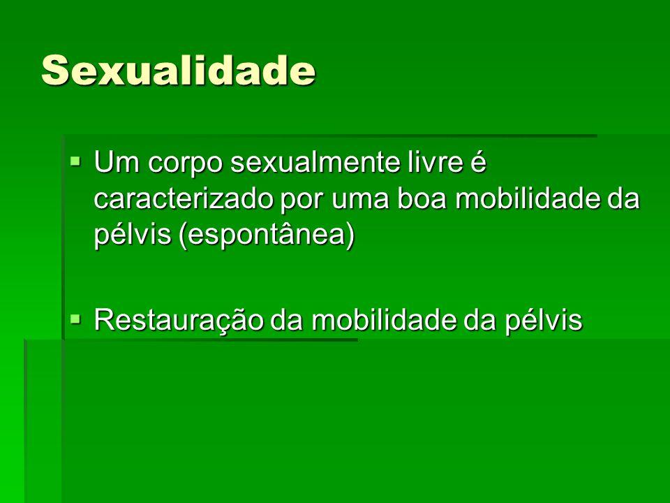 Sexualidade Um corpo sexualmente livre é caracterizado por uma boa mobilidade da pélvis (espontânea)
