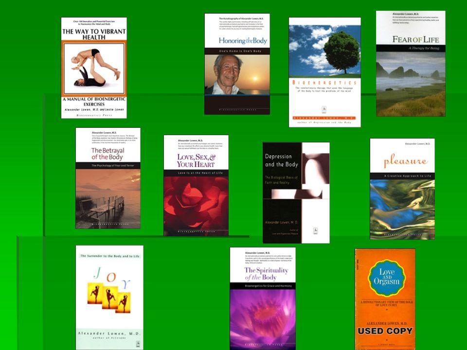 os livros que possibilitam uma visão mais ampla e didática da Análise Bioenergética: O Corpo em Terapia (1958) Summus Ed., Bioenergética (1975) Summus Ed. e Exercícios de Bioenergética (1977) Ágora Ed..
