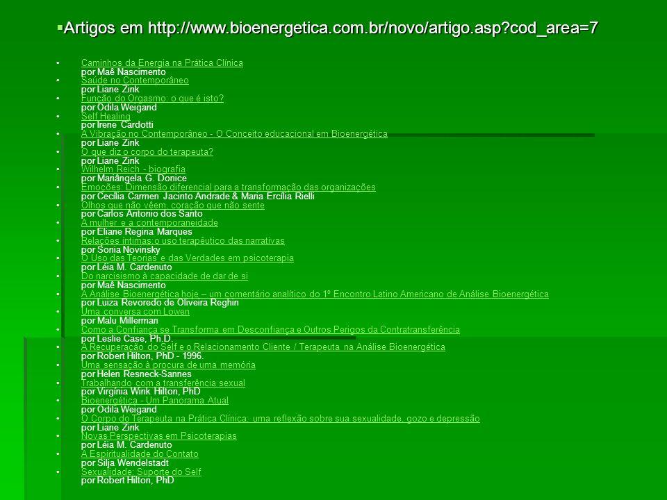 Artigos em http://www.bioenergetica.com.br/novo/artigo.asp cod_area=7