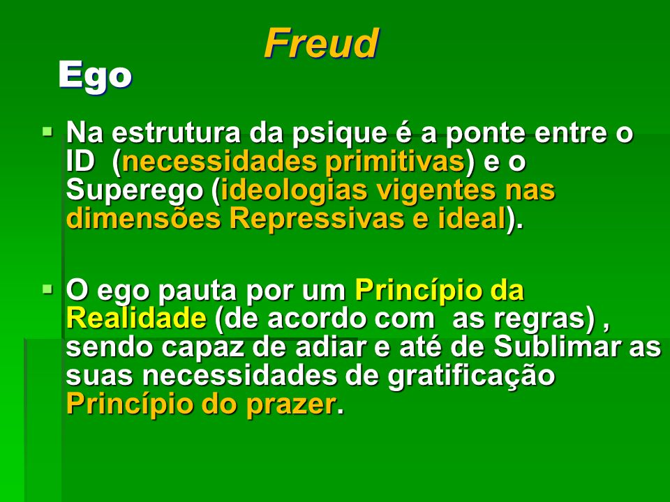 Freud Ego.