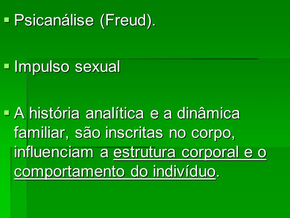 Psicanálise (Freud). Impulso sexual