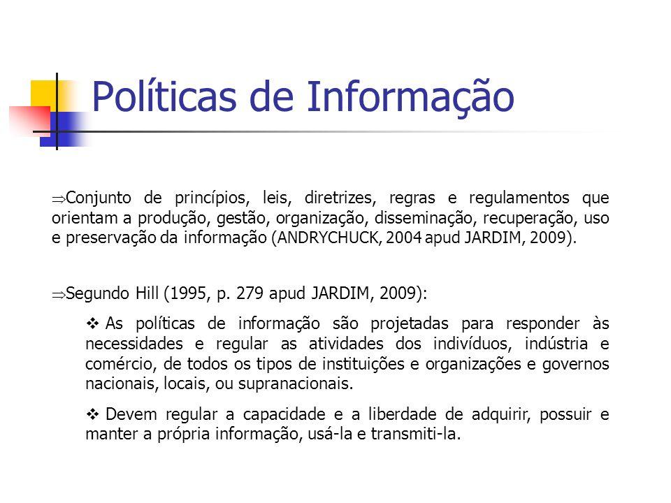 Políticas de Informação