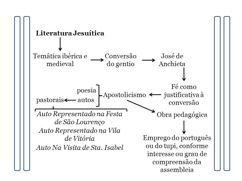 Temática ibérica e medieval Conversão do gentio José de Anchieta