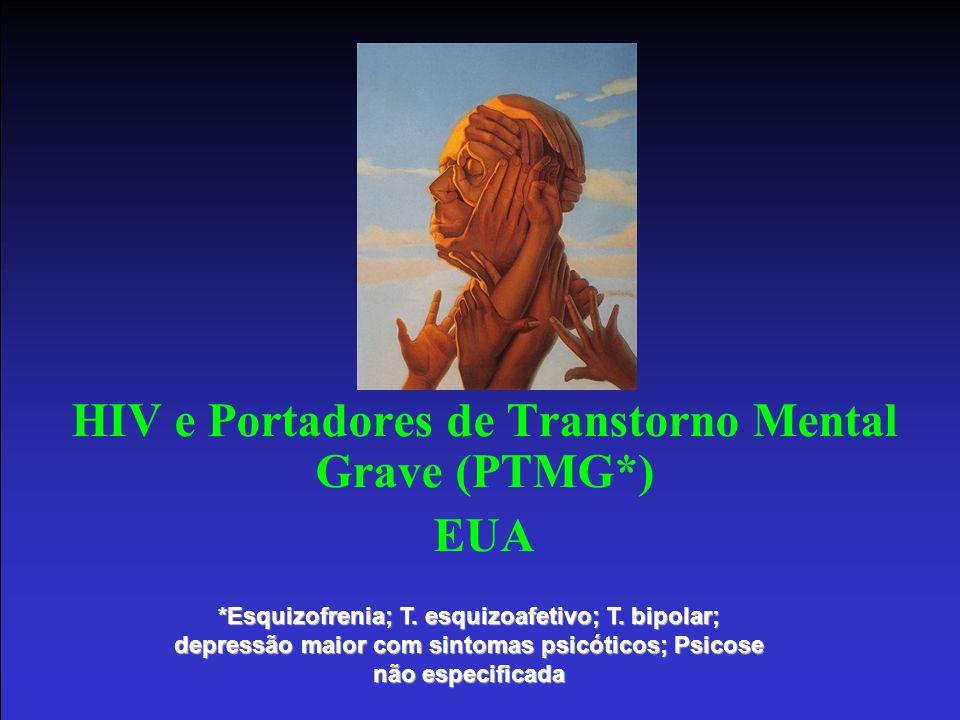 HIV e Portadores de Transtorno Mental Grave (PTMG*) EUA