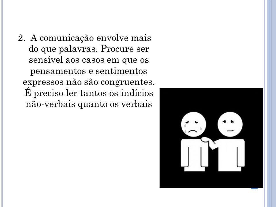 2. A comunicação envolve mais do que palavras