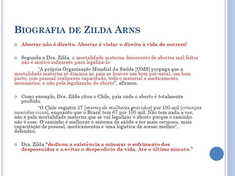 Biografia de Zilda Arns