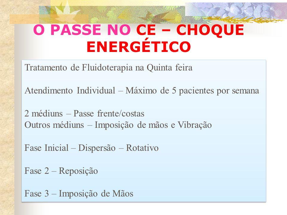 O PASSE NO CE – CHOQUE ENERGÉTICO