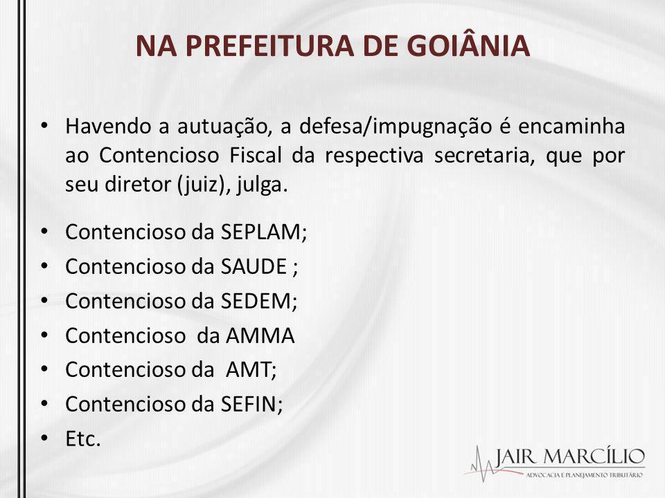 NA PREFEITURA DE GOIÂNIA