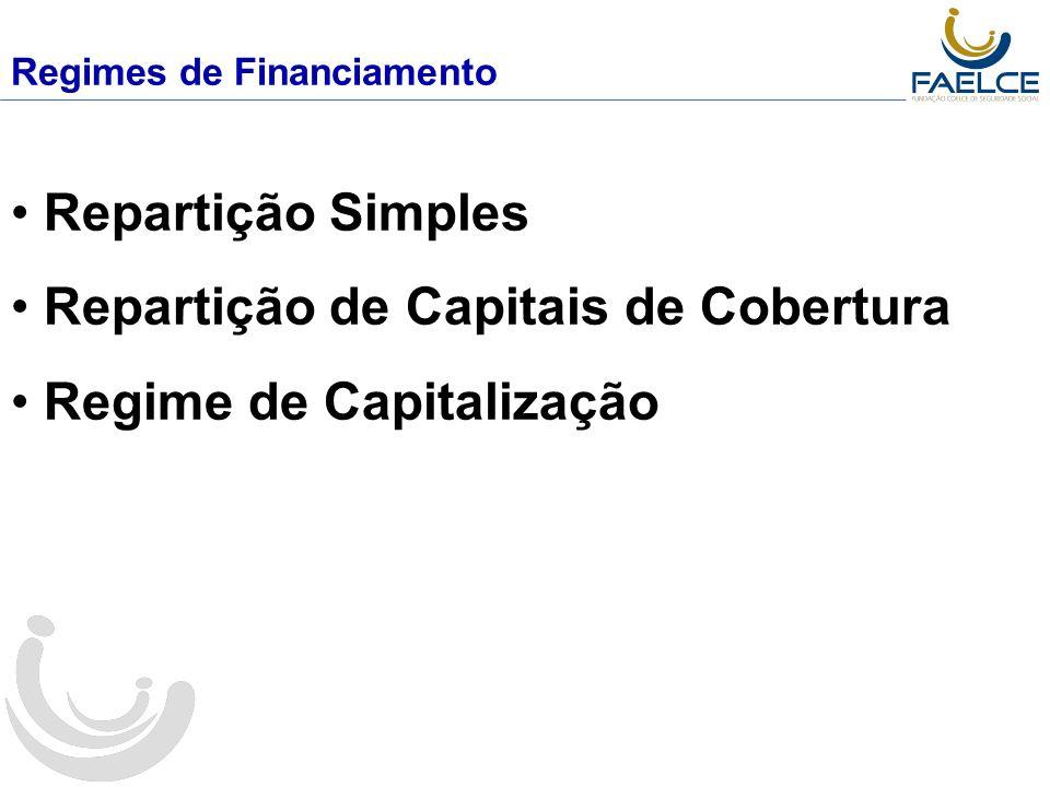 Repartição de Capitais de Cobertura Regime de Capitalização