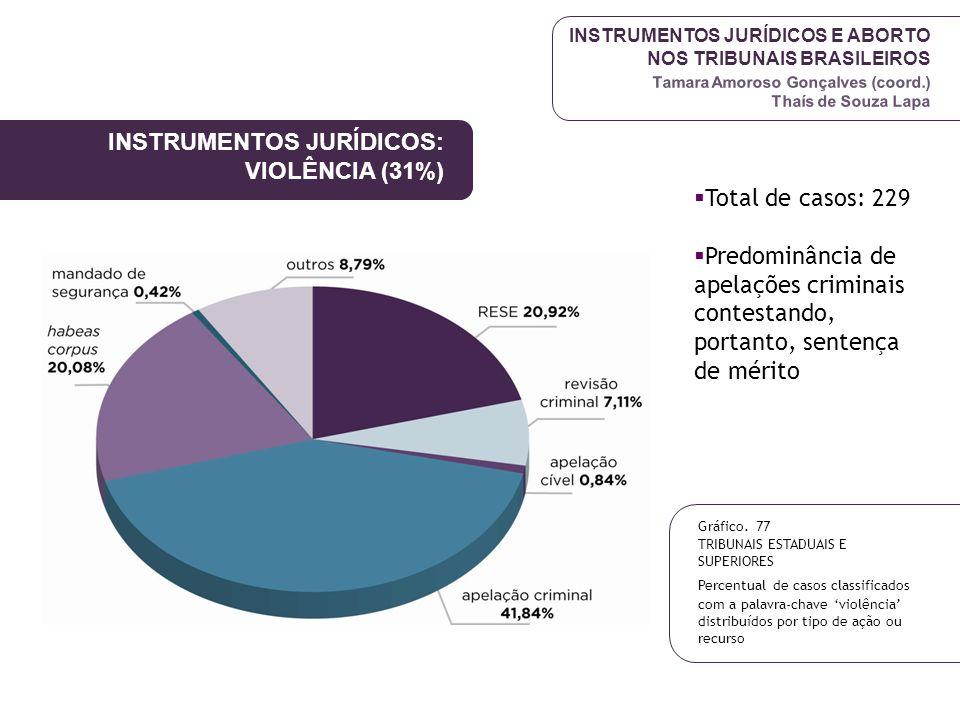 INSTRUMENTOS JURÍDICOS: VIOLÊNCIA (31%)