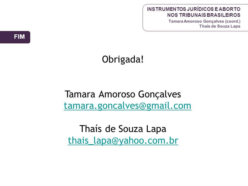 Tamara Amoroso Gonçalves tamara.goncalves@gmail.com