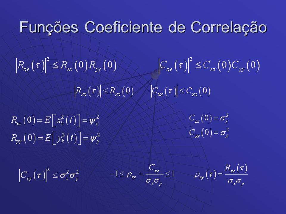 Funções Coeficiente de Correlação