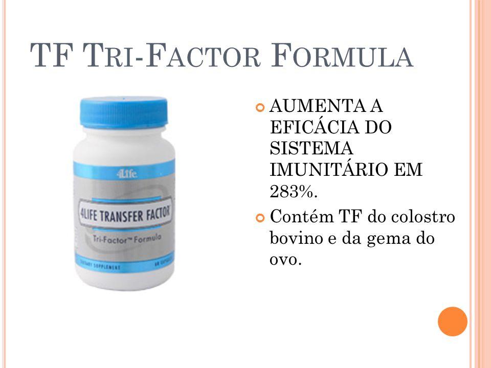 TF Tri-Factor Formula AUMENTA A EFICÁCIA DO SISTEMA IMUNITÁRIO EM 283%.