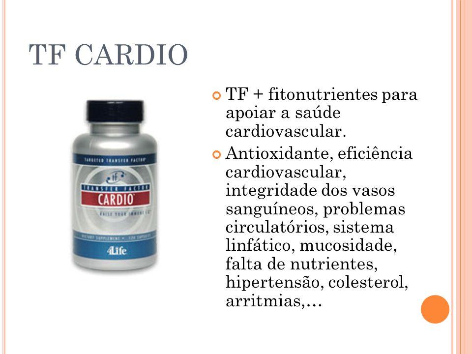 TF CARDIO TF + fitonutrientes para apoiar a saúde cardiovascular.
