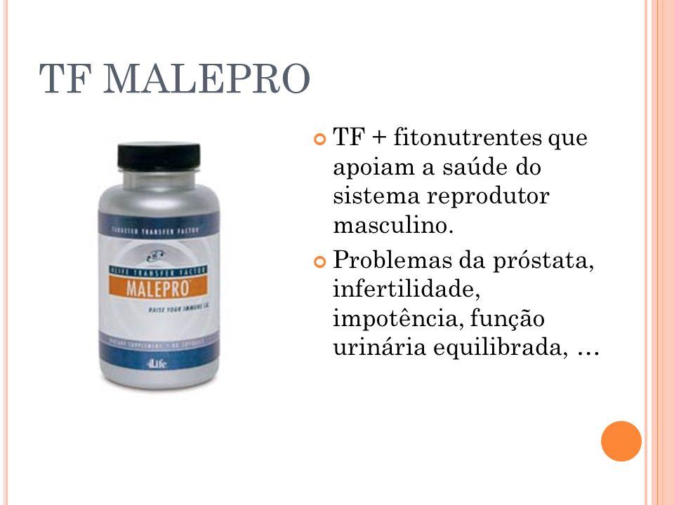 TF MALEPRO TF + fitonutrentes que apoiam a saúde do sistema reprodutor masculino.