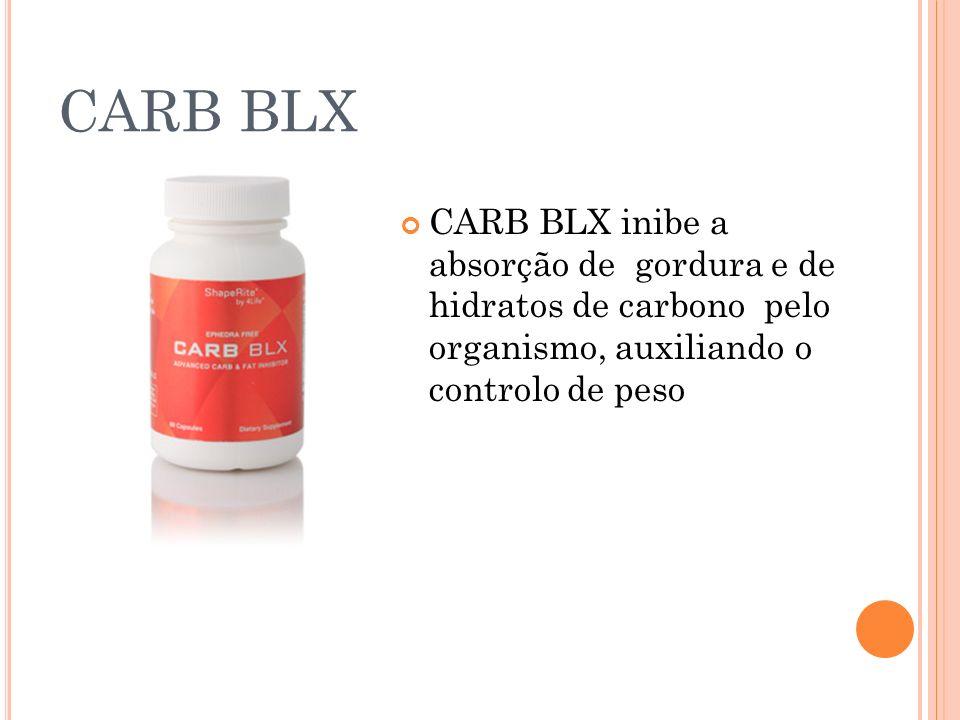 CARB BLX CARB BLX inibe a absorção de gordura e de hidratos de carbono pelo organismo, auxiliando o controlo de peso.
