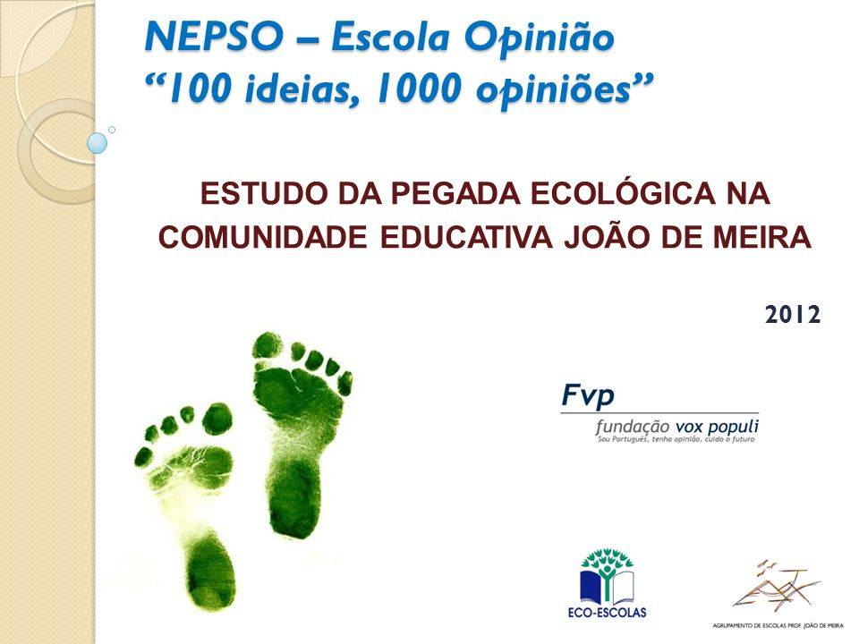 NEPSO – Escola Opinião 100 ideias, 1000 opiniões