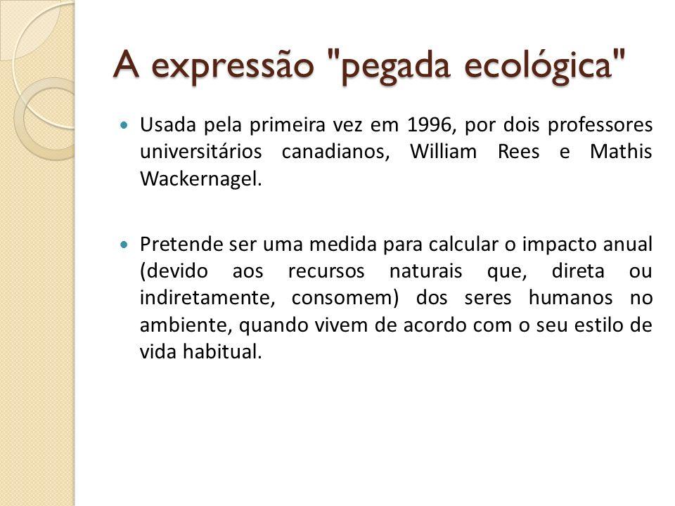 A expressão pegada ecológica
