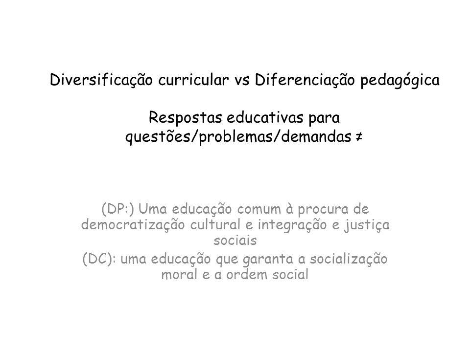 (DC): uma educação que garanta a socialização moral e a ordem social