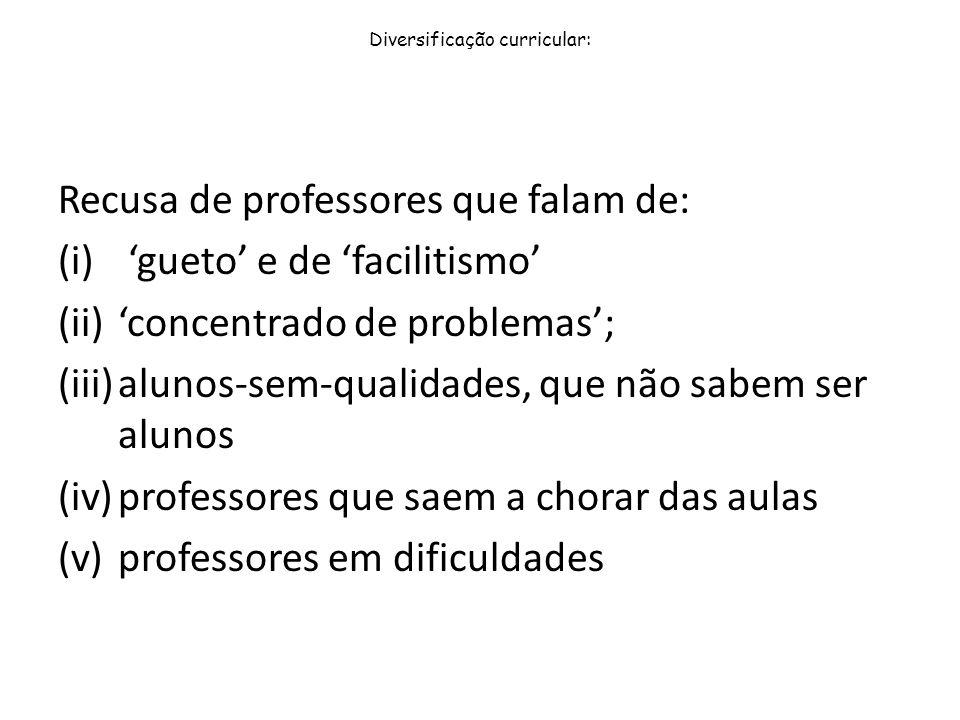 Diversificação curricular: