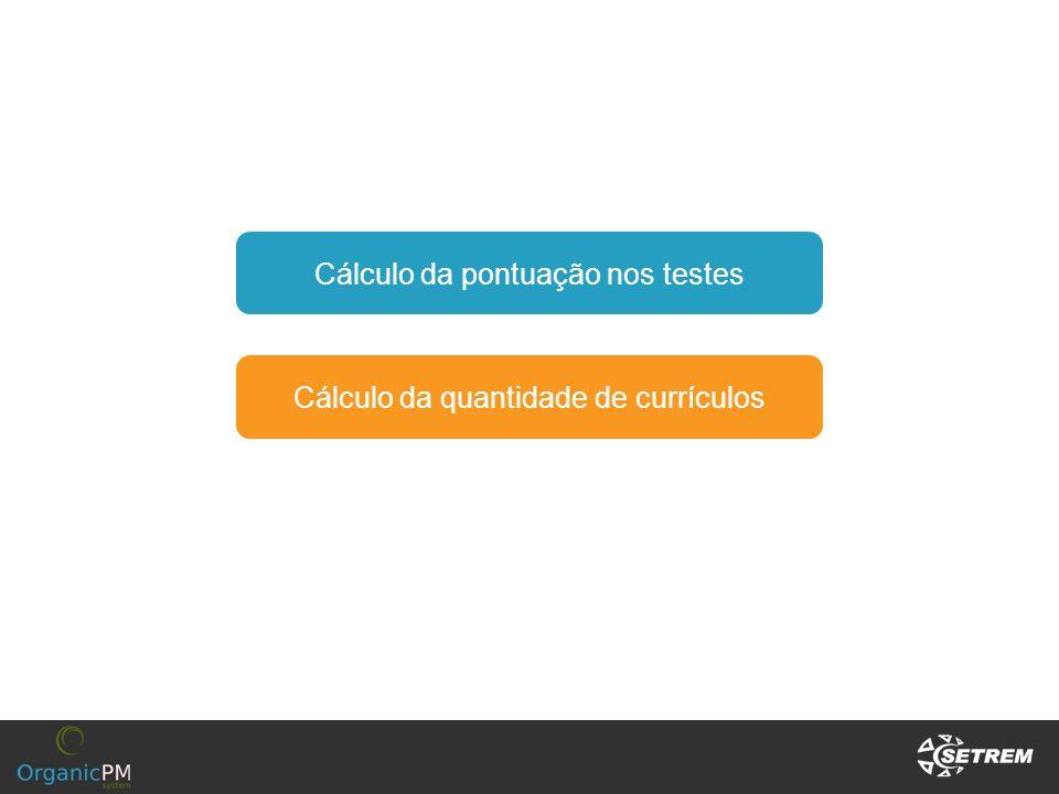 Cálculo da pontuação nos testes