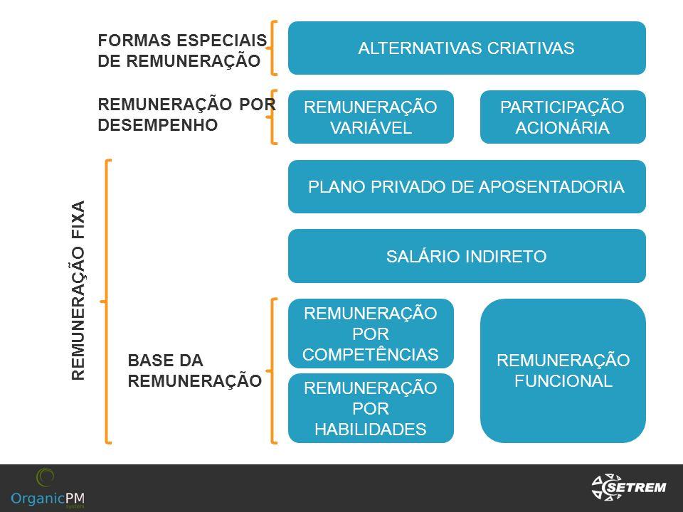 ALTERNATIVAS CRIATIVAS FORMAS ESPECIAIS DE REMUNERAÇÃO