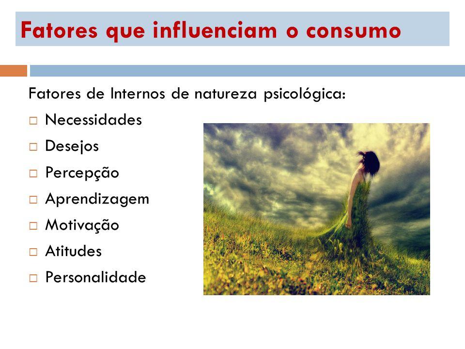 Fatores que influenciam o consumo