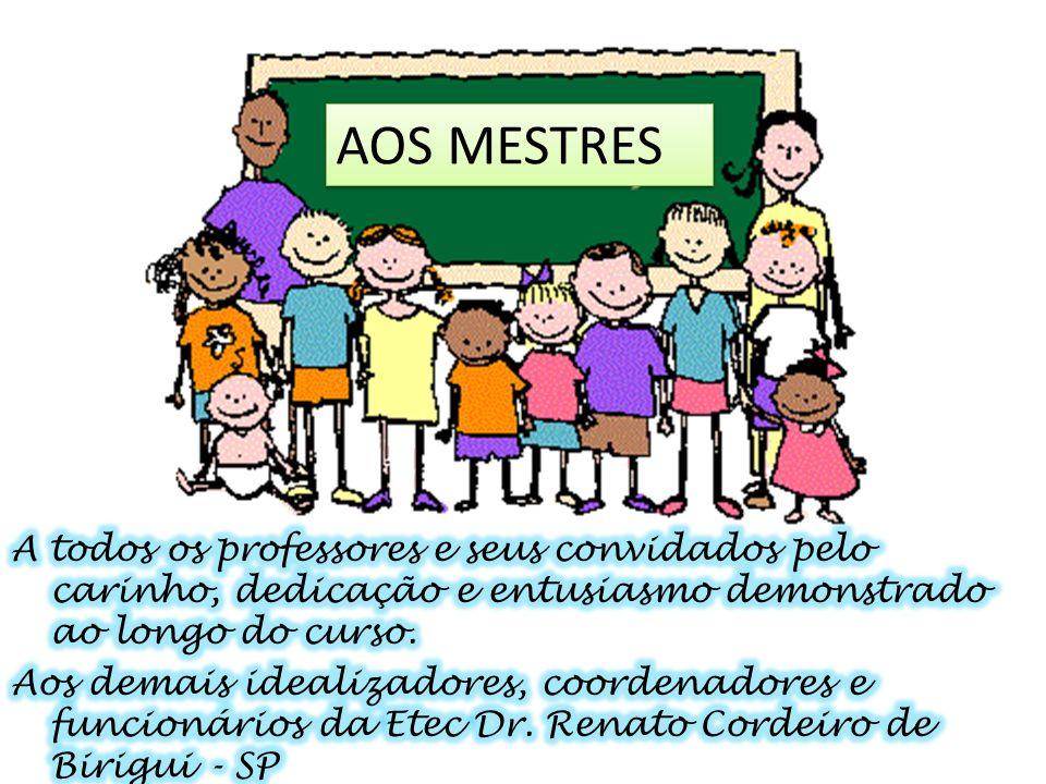 AOS MESTRES A todos os professores e seus convidados pelo carinho, dedicação e entusiasmo demonstrado ao longo do curso.