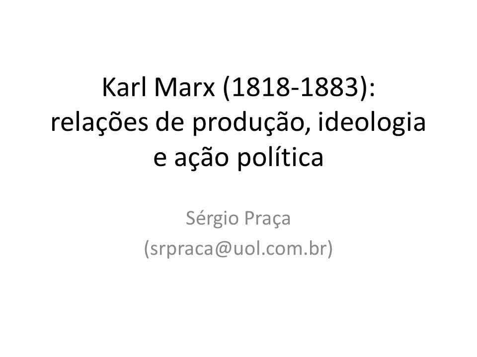 Karl Marx (1818-1883): relações de produção, ideologia e ação política