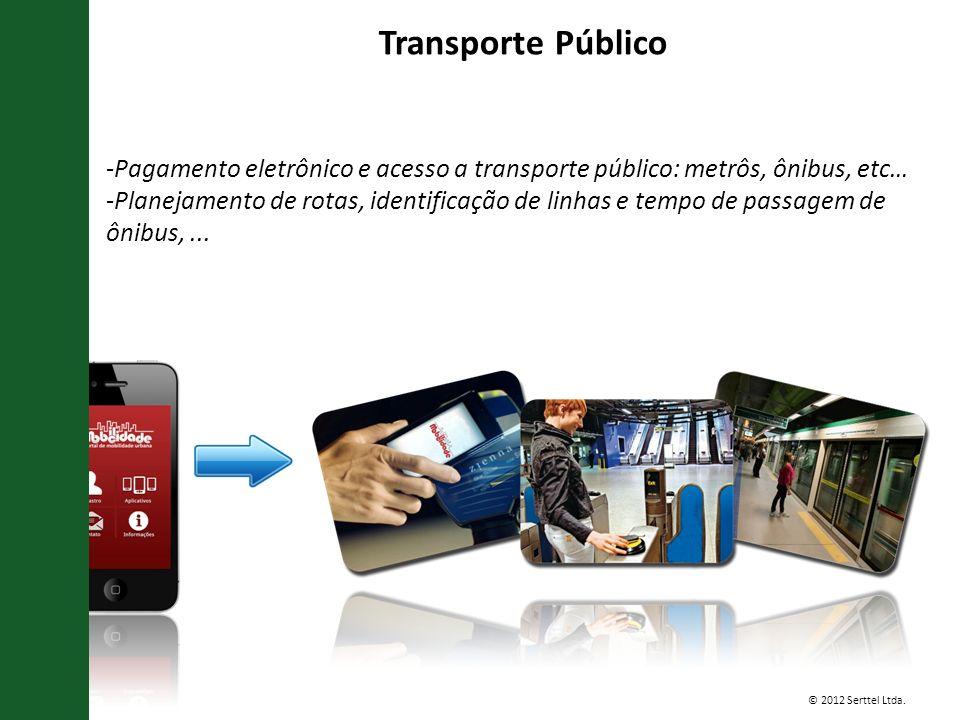 Transporte Público Pagamento eletrônico e acesso a transporte público: metrôs, ônibus, etc…