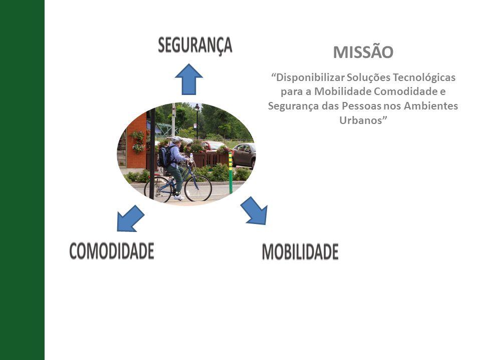 MISSÃO Disponibilizar Soluções Tecnológicas para a Mobilidade Comodidade e Segurança das Pessoas nos Ambientes Urbanos