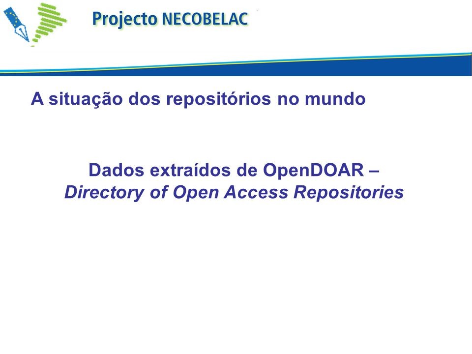 Dados extraídos de OpenDOAR – Directory of Open Access Repositories