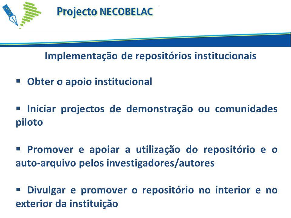 Implementação de repositórios institucionais