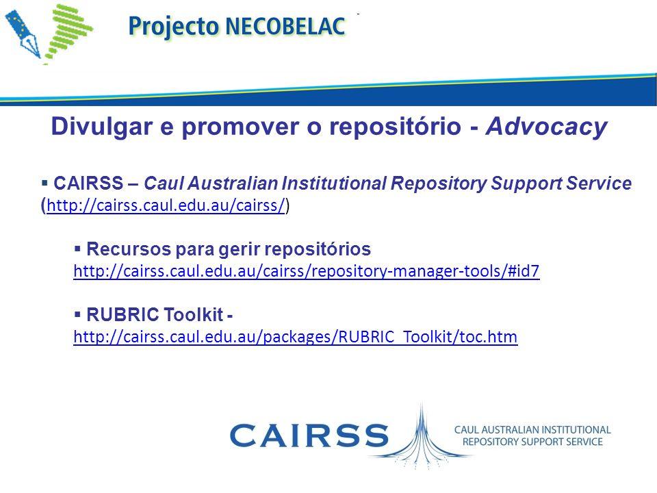 Divulgar e promover o repositório - Advocacy