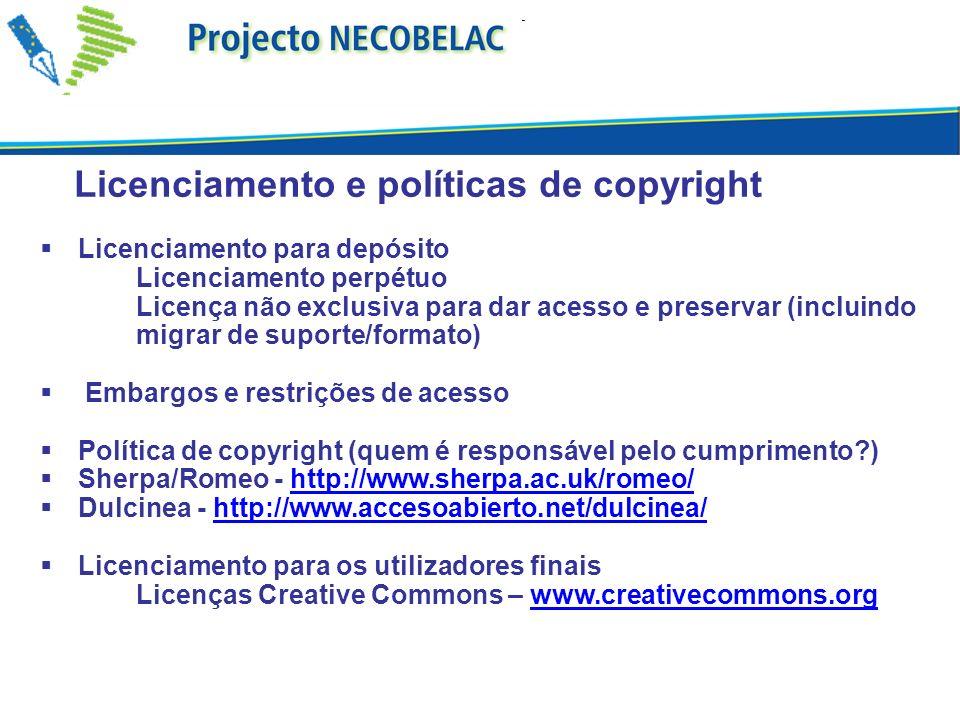 Licenciamento e políticas de copyright