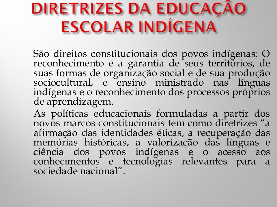 DIRETRIZES DA EDUCAÇÃO ESCOLAR INDÍGENA