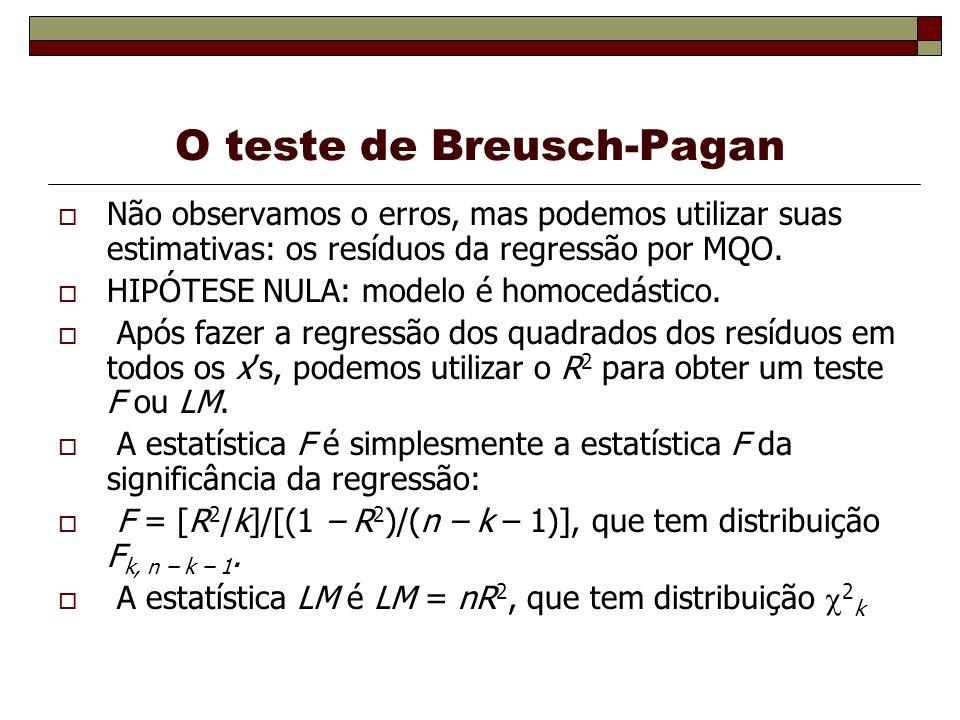 O teste de Breusch-Pagan