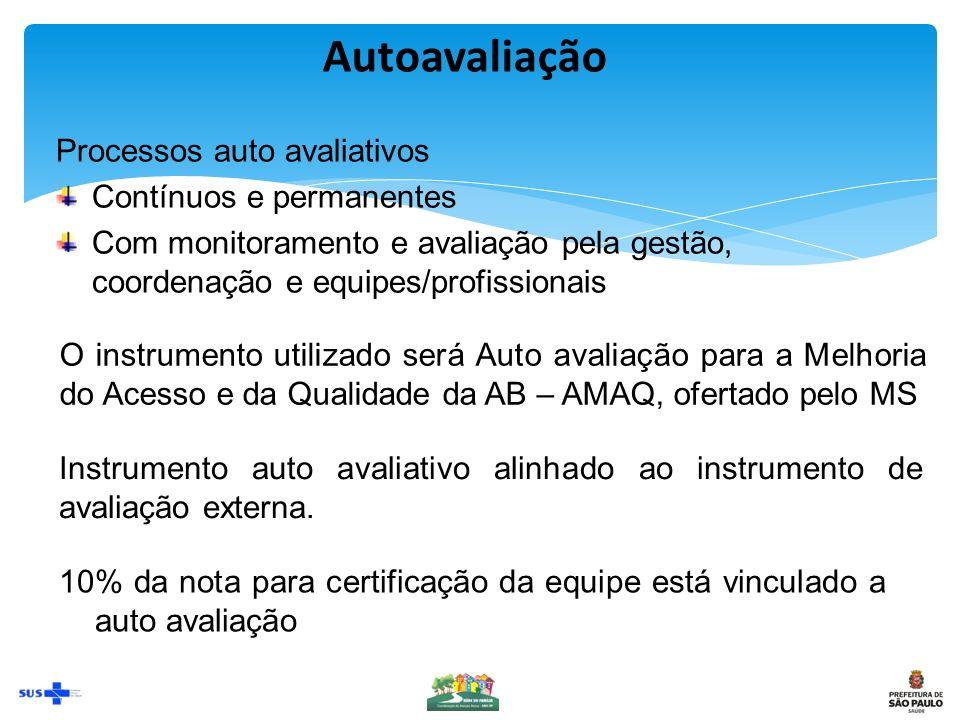 Autoavaliação Processos auto avaliativos Contínuos e permanentes