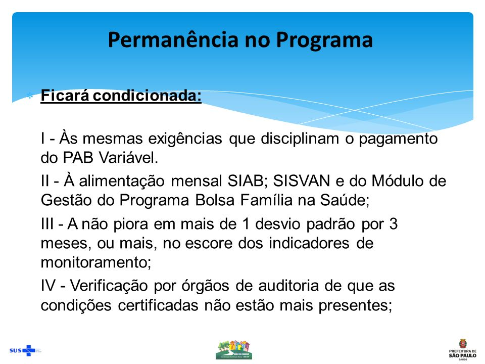Permanência no Programa
