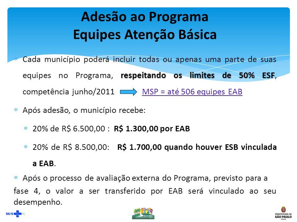 Adesão ao Programa Equipes Atenção Básica