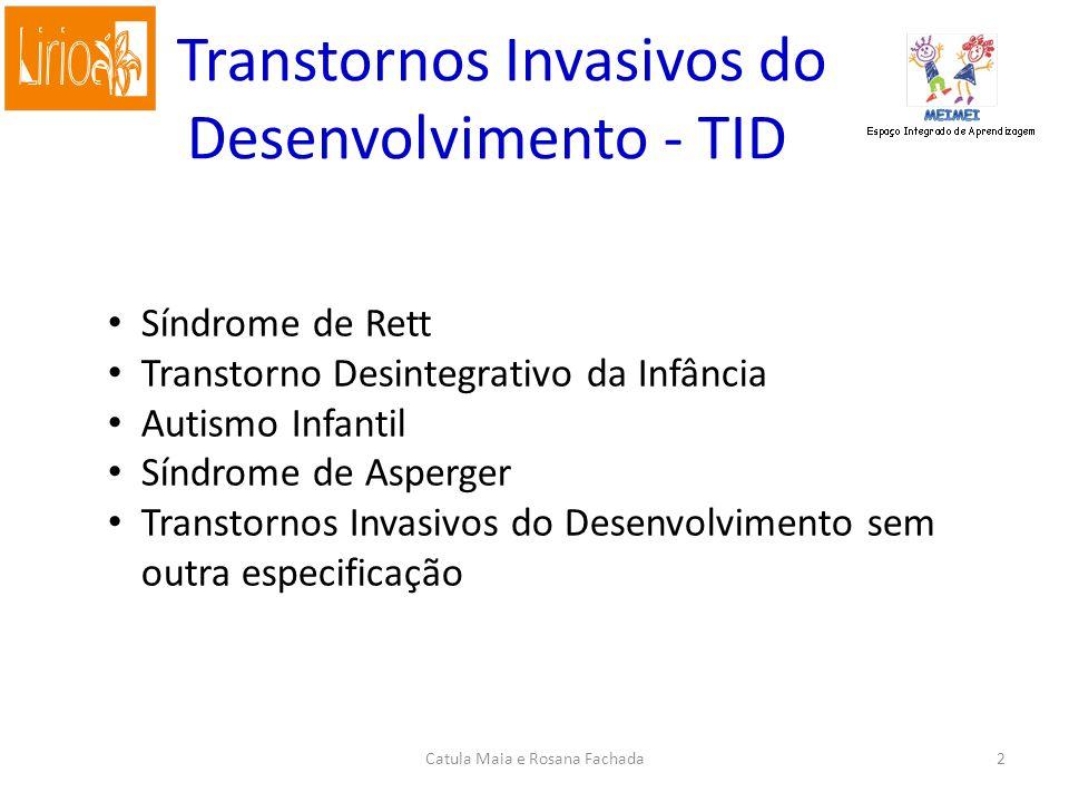 Transtornos Invasivos do Desenvolvimento - TID