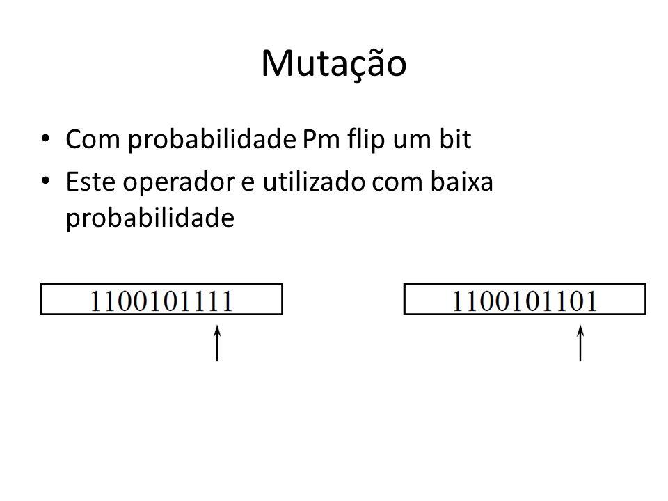 Mutação Com probabilidade Pm flip um bit