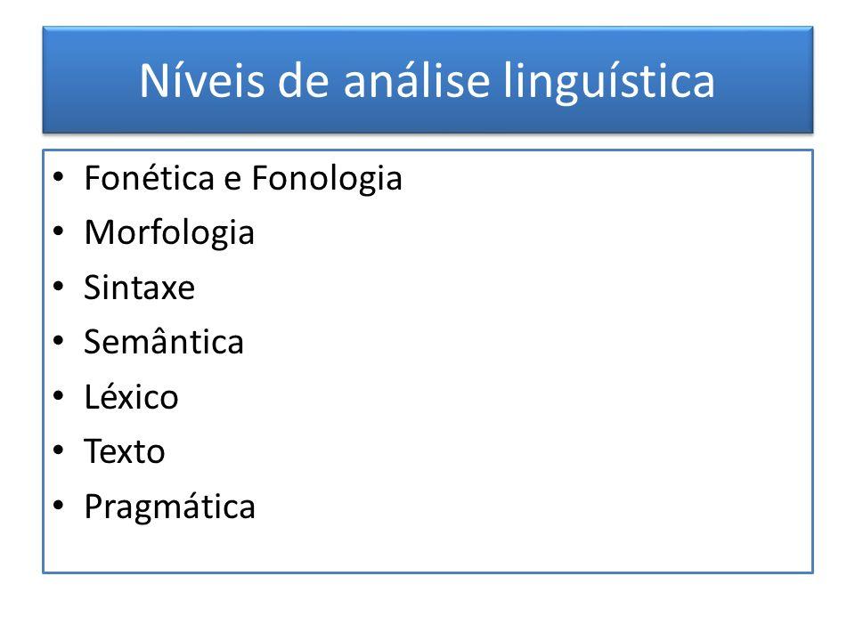 Níveis de análise linguística