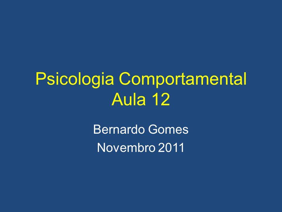 Psicologia Comportamental Aula 12