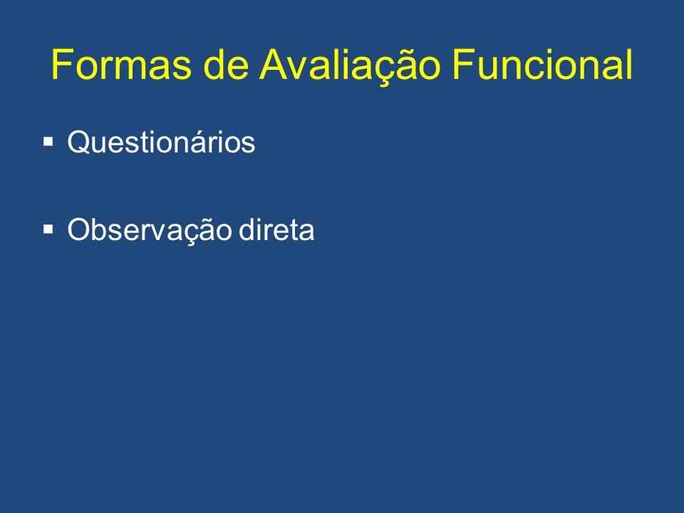Formas de Avaliação Funcional