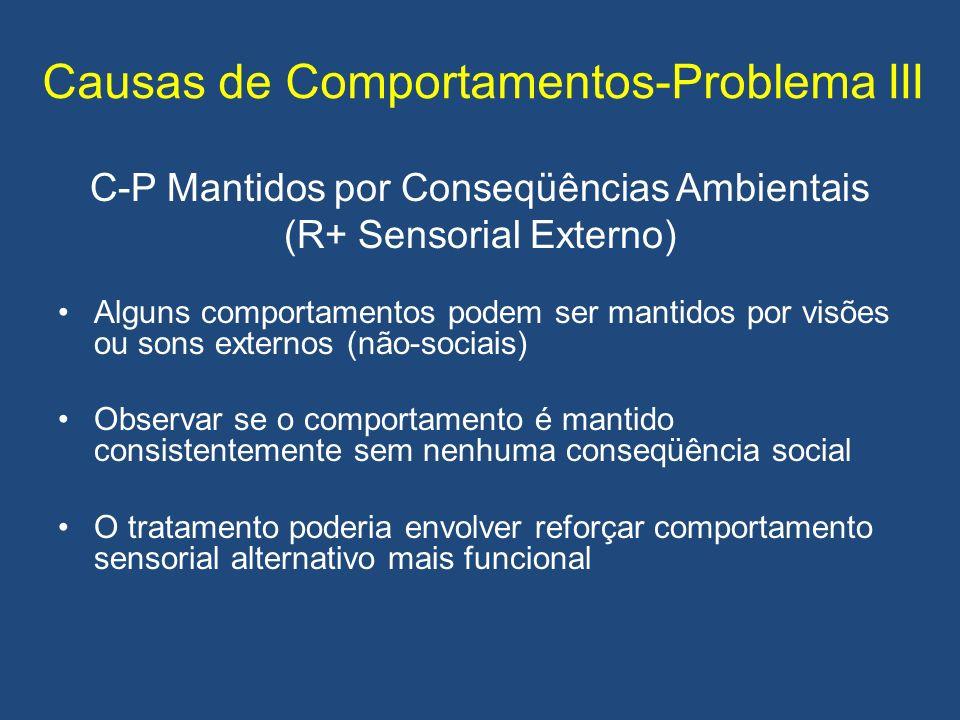 Causas de Comportamentos-Problema III