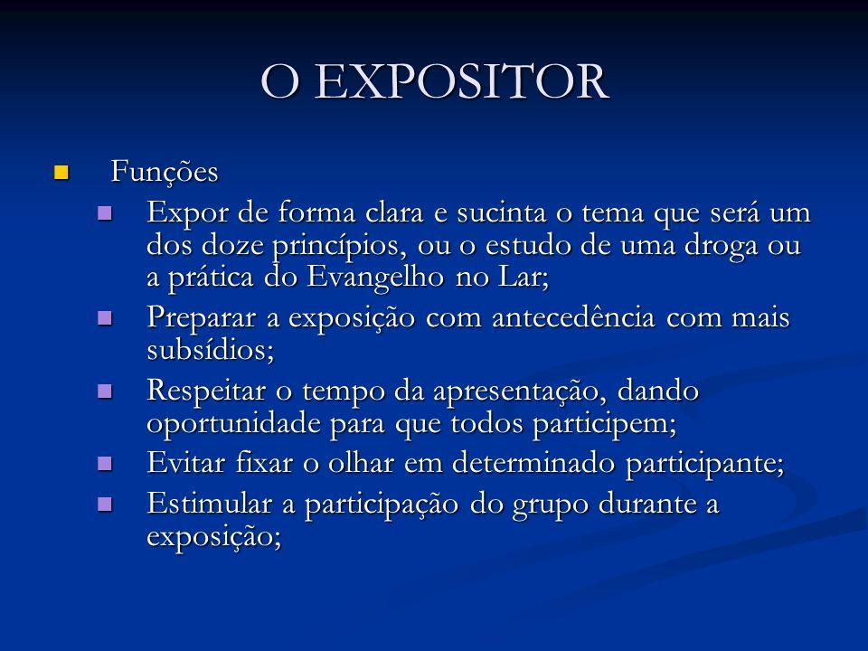 O EXPOSITOR Funções.