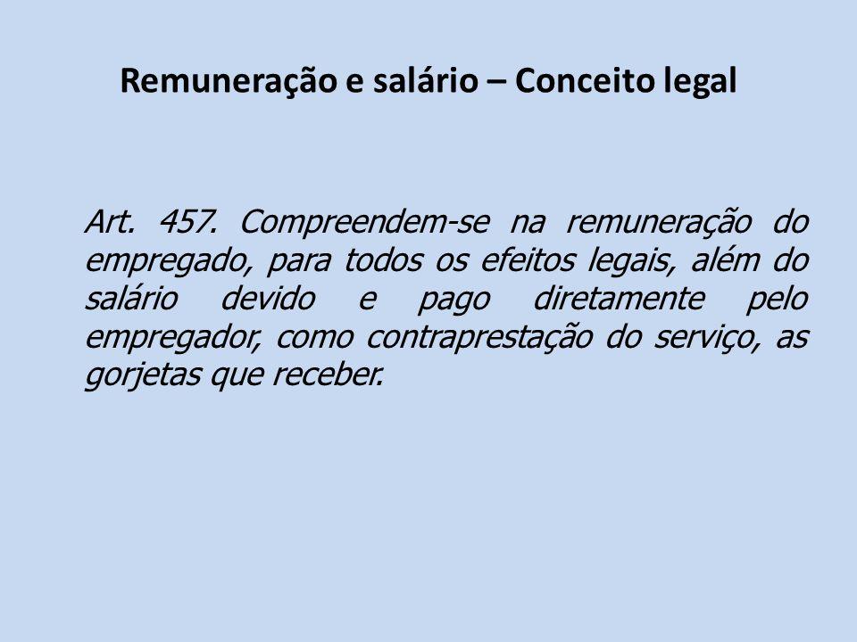 Remuneração e salário – Conceito legal