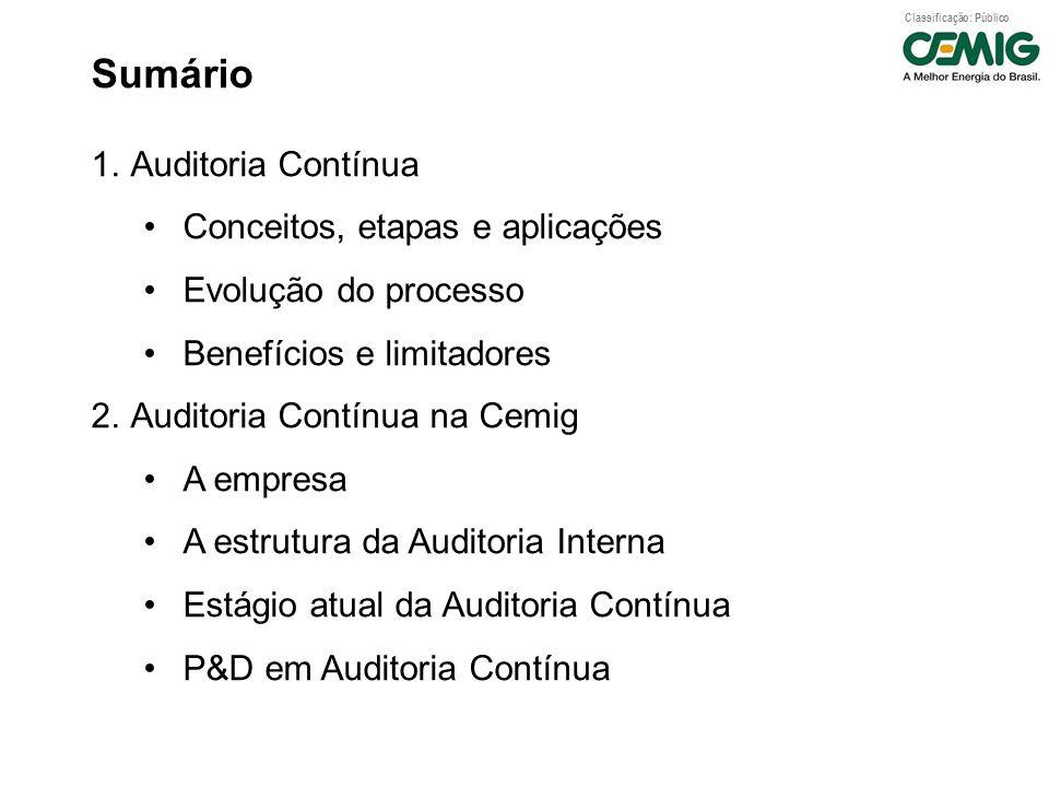 Sumário Auditoria Contínua Conceitos, etapas e aplicações