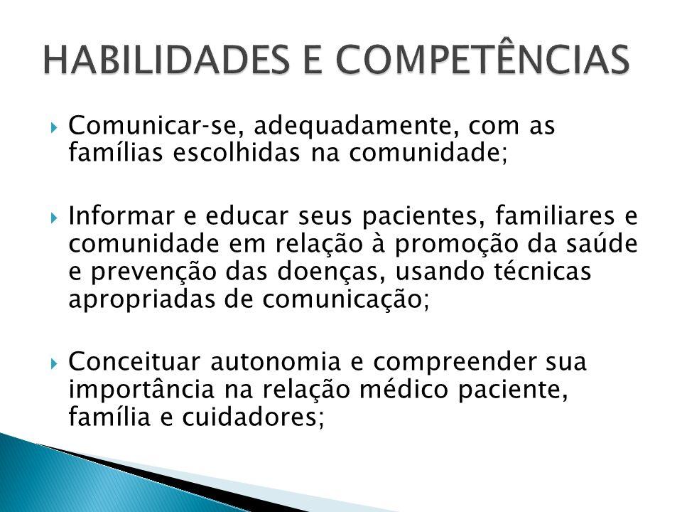 HABILIDADES E COMPETÊNCIAS